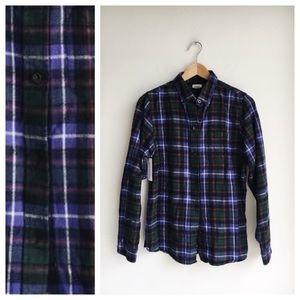 L.L. Bean Scotch Plaid Relaxed Shirt, size S